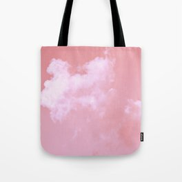 Floating candy with beige pink Tote Bag