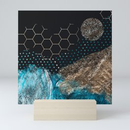 Midnight Mountain Mini Art Print
