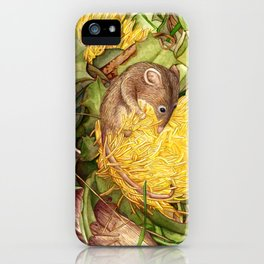 Honey Possum in Dryandra iPhone Case