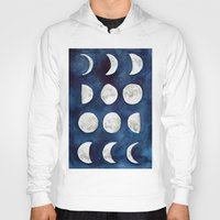 moon phases Hoodies featuring Moon phases by Bridget Davidson