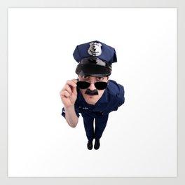 Curious Cop Art Print