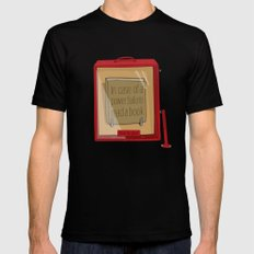 In case of a power failure: read a book Mens Fitted Tee Black MEDIUM