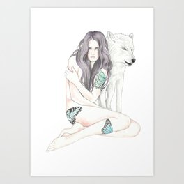 She-Wolf Art Print
