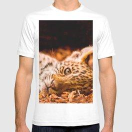 Jaguar Cub Lying in Foliage T-shirt