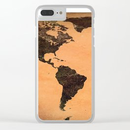 Abstract Earth Science Map Clear iPhone Case