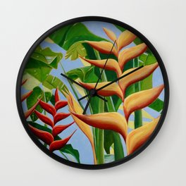 Beharry Heliconia - Grenada Wall Clock