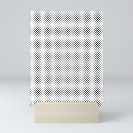 Black small dots in rows. Mini Art Print