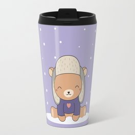 Kawaii Cute Winter Bear Travel Mug