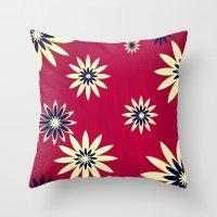 daisies Throw Pillows featuring Daisies by Armin