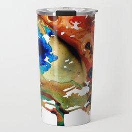 All Seasons Tree 3 - Colorful Landscape Print Travel Mug