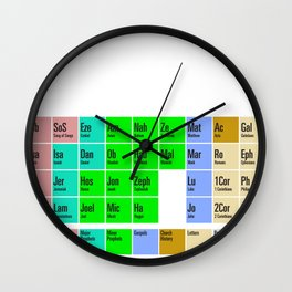 PERIODIC BIBLE Wall Clock