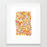 blanket Framed Art Prints featuring Blanket by Tonya Doughty