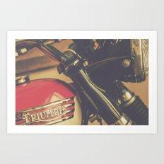 Vintage Triumph Bonneville Motorcycle Art Print