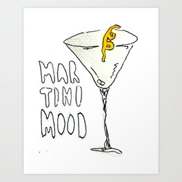Martini Mood Art Print
