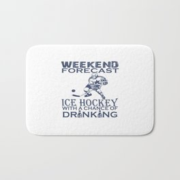 WEEKEND FORECAST ICE HOCKEY Bath Mat