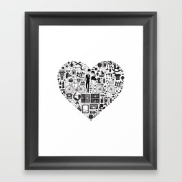 LIKES PATTERNS Framed Art Print