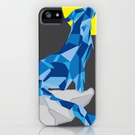 Geo Wolf iPhone Case