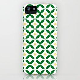 Green and Yellow Geometric Print iPhone Case