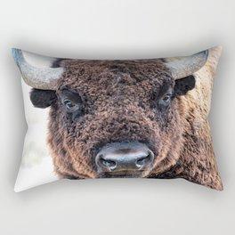 American Bison  -  A Living National Treasure Rectangular Pillow