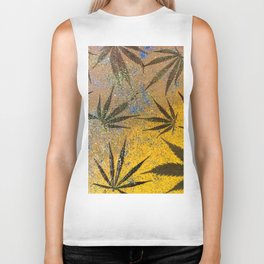 Cannabis leaves Biker Tank