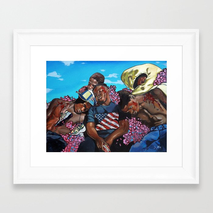 The Kids From The States Framed Art Print