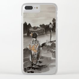 Evening walk Sumie Clear iPhone Case