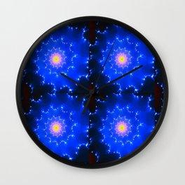 Mosaic in Blue Wall Clock