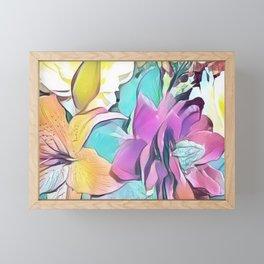 Flower Bouquet Pastel Framed Mini Art Print