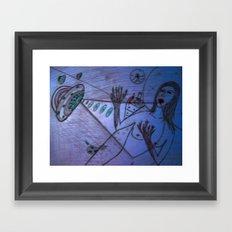LSD girl Framed Art Print