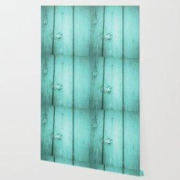 Urban Wood - Aqua Wallpaper