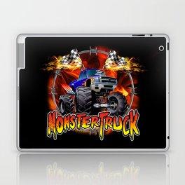 Monster Truck blue on Fire                                          Laptop & iPad Skin