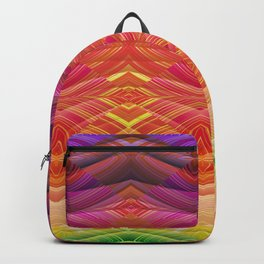 Dimensional Sunset Geometric Rainbow Backpack