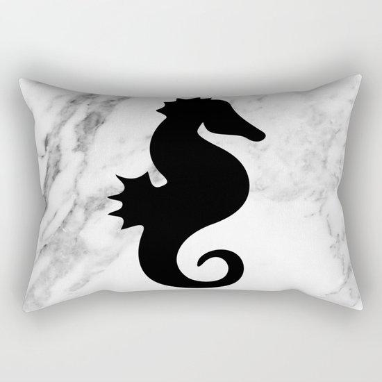 Marble seahorse Rectangular Pillow