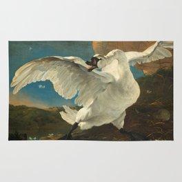 The Threatened Swan by Jan Asselijn Rug