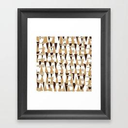 brown spearheads Framed Art Print