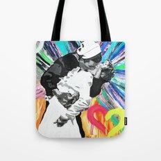 Kiss - Time Square Kiss Tote Bag