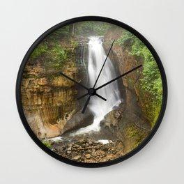Miners Falls - Pictured Rocks Waterfall, Michigan Wall Clock