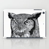 owl iPad Cases featuring Owl by Puddingshades