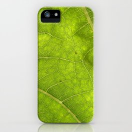 Sunflower leaf iPhone Case
