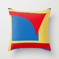 superhero Throw Pillows featuring Superhero Abstract by StevenARTify