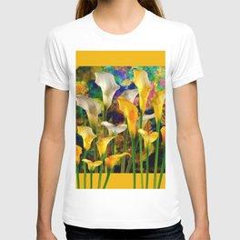 Golden Ivory Color Calla Lilies Golden Art T-shirt