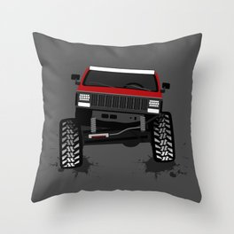 RED XJ Throw Pillow