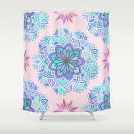 Heart Chakra Maldala Pattern Shower Curtain