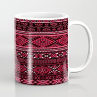 greek Mugs featuring GREEK pattern by ''CVogiatzi.