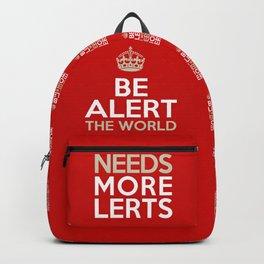 BE ALERT! Backpack
