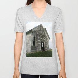 Abandoned Church Unisex V-Neck