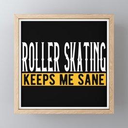 Roller Skating Lovers Gift Idea Design Framed Mini Art Print