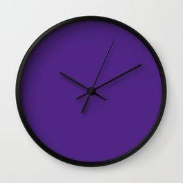 Minnesota Football Team Dark Purple Solid Mix and Match Colors Wall Clock