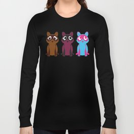Three Tanuki Long Sleeve T-shirt