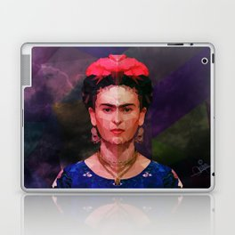 FRIDA KAHLO GEOMETRIC PORTRAIT Laptop & iPad Skin